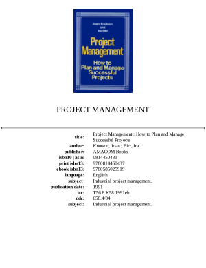 PROJECT MANAGEMENT How to Plan and Manage Successful Projects