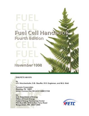 Fuel Cell Handbook Fourth Edition by J.H. Hirschenhofer