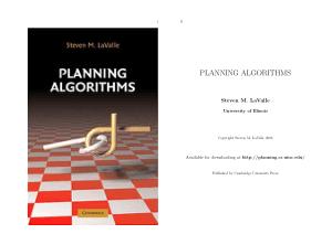 PLANNING ALGORITHMS Steven M. LaValle