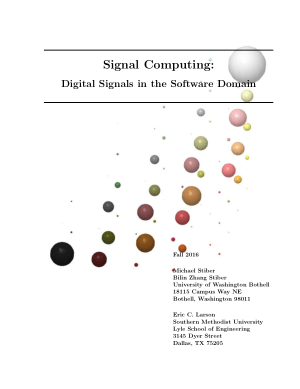 Signal Computing Digital Signals in the Software Domain