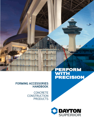 Forming Accessories Handbook Concrete Construction Products