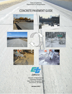 State Of California Department Of Transportation Concrete Pavement Guide