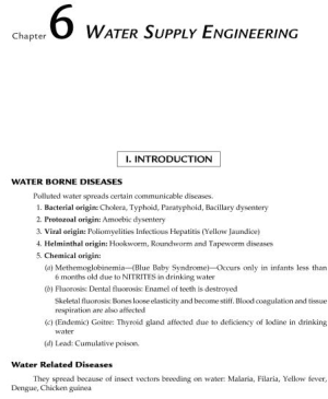 MCQs of Water supply Engineering