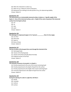 Hydraulics And Fluid Mechanics MCQ Part-5