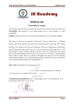 Geotechnical Engineering Gate exam notes part-2