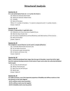 Structural Analysis MCQs