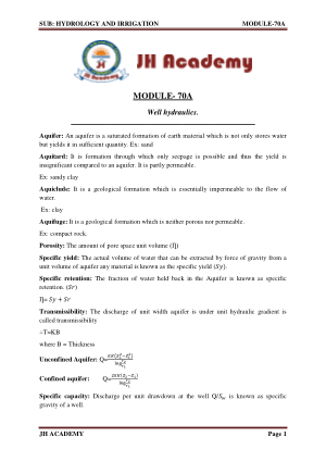 Hydrology and Irrigation Gate exam notes part-4