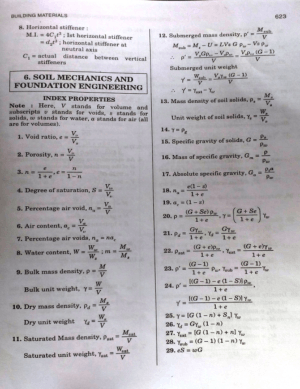 Soil Mechanics and Foundation Engineering Formulas