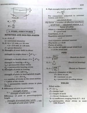 Steel Structures Formulas