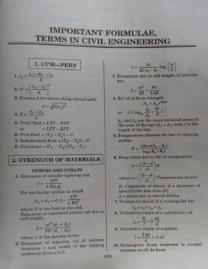 Strength of Materials Formulas
