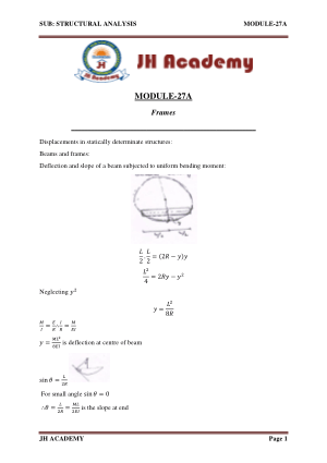 Structural Analysis notes Gate exam part-5