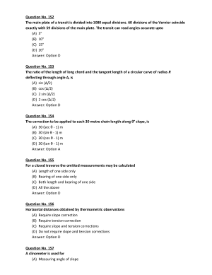 Surevying and levelling Gate Exam Part-4