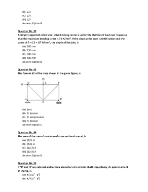 Theroy of structures MCQs part-3