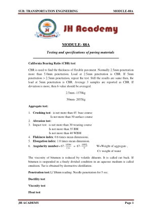 Transportation Engineering Gate exam notes part-2