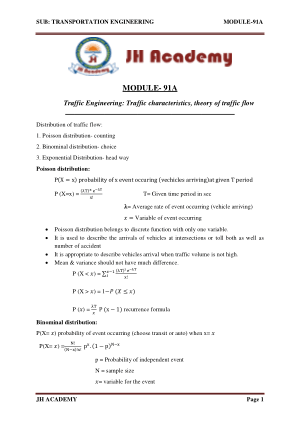 Transportation Engineering Gate exam notes part-5