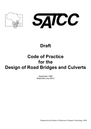 Code of Practice for the Design of Road Bridges and Culverts