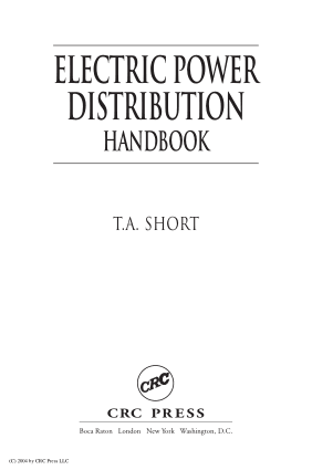 ElECTRIC POWER distribution handbook by T.A. Short
