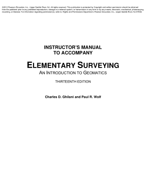ELEMENTARY SURVEYING AN INTRODUCTION TO GEOMATICS THIRTEENTH EDITION Charles D. Ghilani and Paul R. Wolf