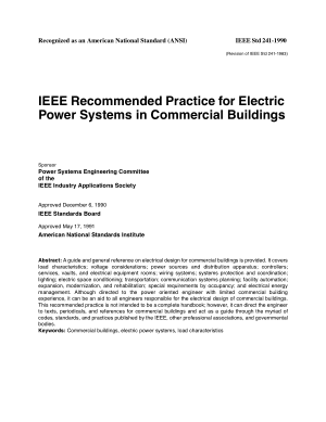 IEEE recommended practice for electric power systems in commercial buildings