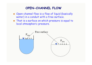 notes on open channel flow