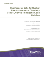 Heat Transfer Salts for Nuclear Reactor Systems Chemistry Control Corrosion Mitigation and Modeling