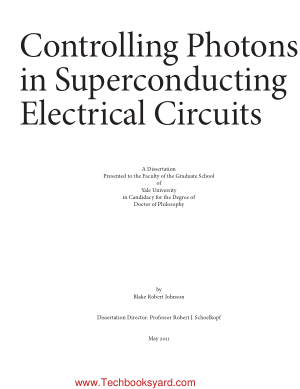 Controlling Photons in Superconducting Electrical Circuits by Blake Robert Johnson