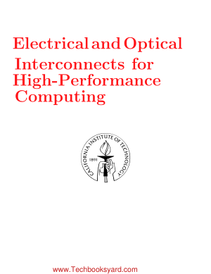 Electrical and Optical Interconnects for High Performance Computing Thesis by Meisam Honarvar Nazari