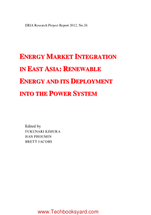 Energy Market Integration in East Asia Renewable Energy and Its Deployment into the Power System