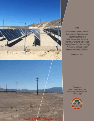 Environmental Assessment Construction and Operation of Solar Photovoltaic System at MAGTFTC MCAGCC (Final) November 2015