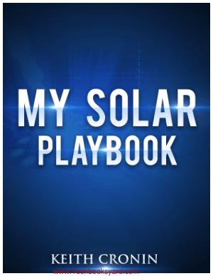 My Solar Playbook by Keith Cronin