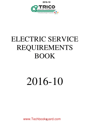 PECO Energy Electric Service Requirement Book