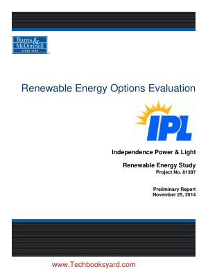 Preliminary Report Renewable Energy Options Evaluation