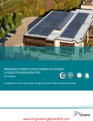 Renewable Energy Development in Ontario A Guide for Municipalities