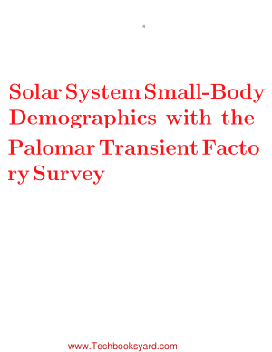 Solar System Small Body Demographics with the Palomar Transient Factory Survey Thesis by Adam Waszczak