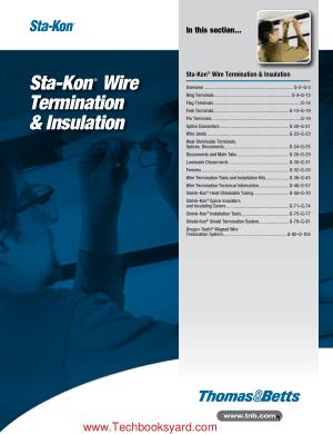 Sta Kon Wire Termination and Insulation