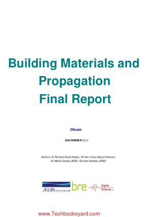 Building Materials and Propagation