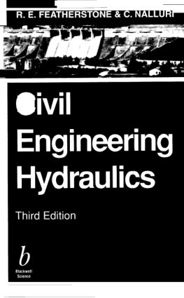 Civil Engineering Hydraulics 3rd Edition