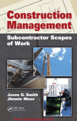 Construction Management Subcontractor Scopesof Work