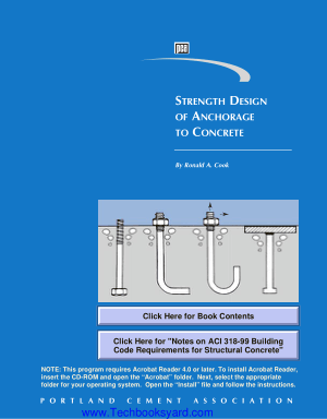 Strength Design of Anchorage to Concrete