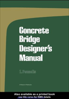 Concrete Bridge Designer s Manual