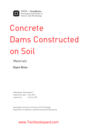 Concrete Dams Constructed on Soil Materials by Dipen Bis