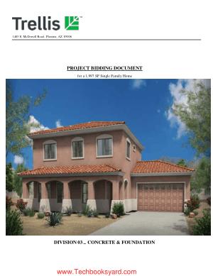 Division 03 Concrete and Foundation