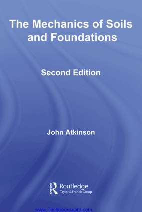 Mechanics of soil and Foundations