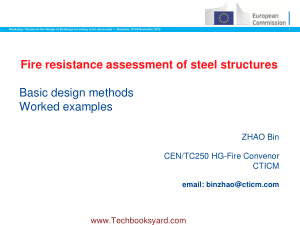 Fire Resistance Assessment of Steel Structures Basic Design Methods Worked Examples by Zhao Bin