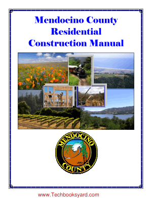 Mendocino County Residential Construction Manual