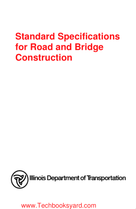 Standard Specifications for Road and Bridge Construction 2016