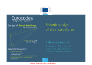 Seismic Design Of Steel Structures