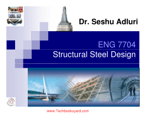 Structural Steel Design ENG 7704 by Dr Seshu Adluri