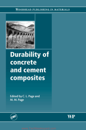Durability of Concrete and Cement Composites By C L Page and M M Page