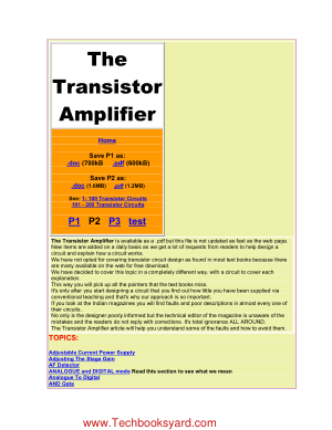 The Transistor Amplifier P2